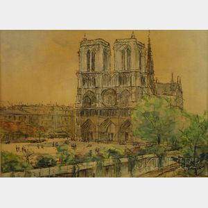 French School, 20th Century      View of Notre Dame