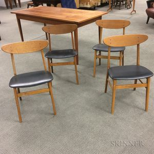Four Danish Modern Dining Chairs