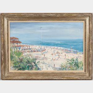 Martin C. Shallenberger (American, 1912-2007)      Untitled (Beach Club, Nantucket)