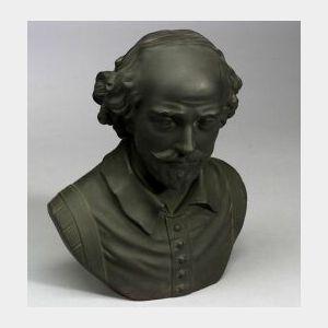 Wedgwood Black Basalt Bust of William Shakespeare