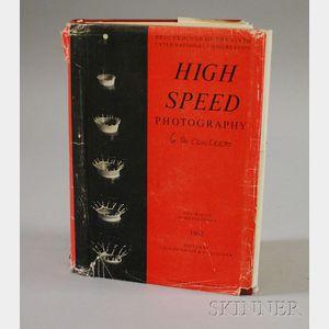 Harold Edgerton Autographed Proceedings of the Sixth International Congress on