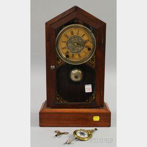 Rosewood Gothic Mantel Clock