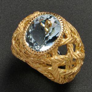 18kt Gold and Aquamarine Ring, Buccellati
