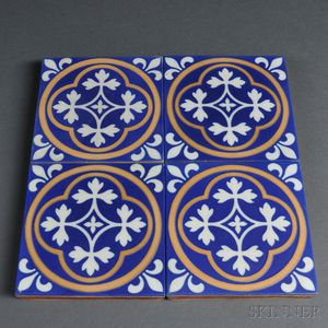 Four Minton Tiles