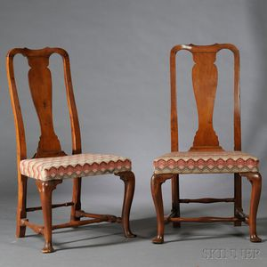 Pair of Queen Anne Maple Side Chairs