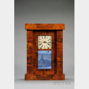 Mahogany Empire Shelf Clock by Chauncey Jerome