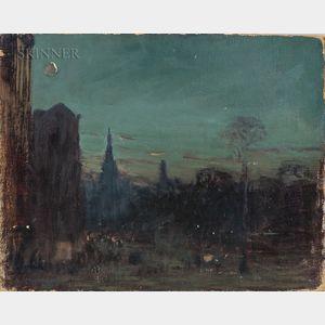 Arthur Clifton Goodwin (American, 1866-1929)      City at Night