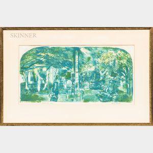 Francis Chapin (American, 1899-1965)      Charleston Park -  Spring