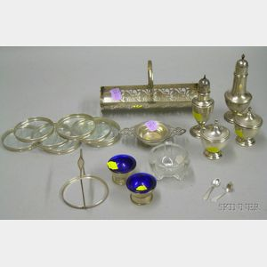 Small Group of Silver Plated and Sterling Tableware