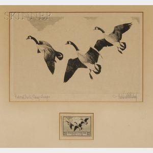 Richard Evett Bishop (American, 1887-1975)      Federal Duck Stamp Design