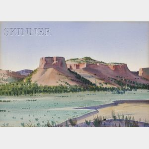 Sandor Bernath (American, 1892-1984)      Santa Fe Landscape.