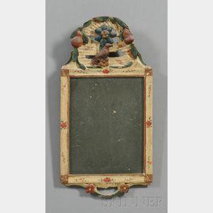 Carved Gesso Polychrome Mirror