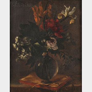 Attributed to Bartolomeo Perez (Spanish 1634-1693)      Floral Still Life