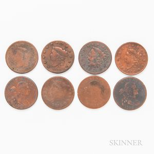 Group of Half Cents and Large Cents