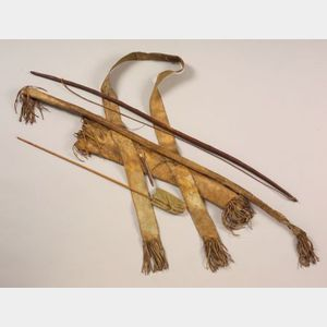 Southern Plains Horse Hide Bow Case and Quiver
