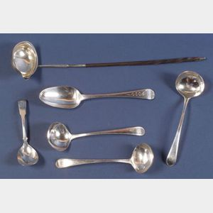 Six Georgian Silver Flatware Items