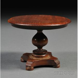 Miniature Classical Turned Wood Center Table