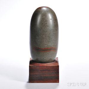 Large Shiva Lingam Stone Sculpture