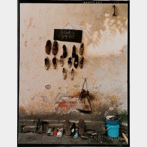 Dana Salvo (American, b. 1952)      Hanoi, Vietnam, Cobbler's Wall