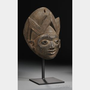 Yoruba Carved Wood Gelede Mask