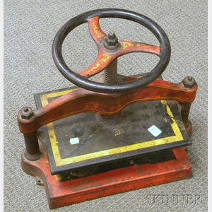 Painted Cast-iron Book Press