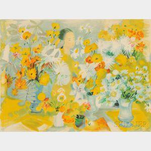 Le Pho (Vietnamese/French, 1907-2001)      La fille aux fleurs