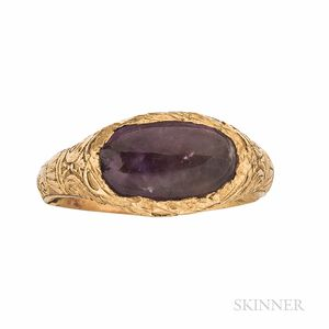 Antique Gold and Amethyst Ring