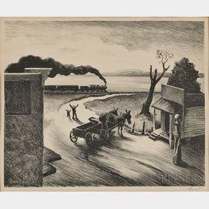 Thomas Hart Benton (American, 1889-1975)      Edge of Town