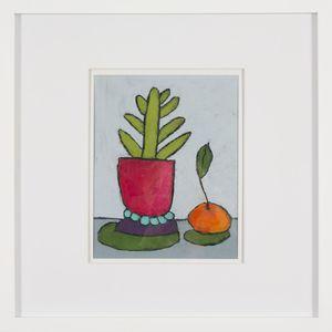 Sam Tomasiello (Massachusetts, b. 1995), A Cactus and a Clementine