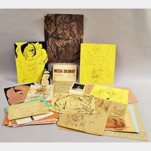 Misha Dolnikoff (American, 1920-2005)      Thirty Sketches and Correspondence