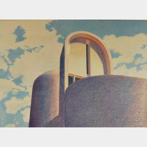 Terri Priest (American, 1928-2014)      Le Corbusier's Church