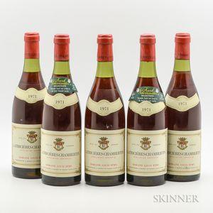 Louis Remy Latricieres Chambertin 1971, 5 bottles