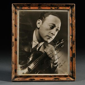 Heifetz, Jascha (1901-1987) Signed Photograph, 26 February 1938.