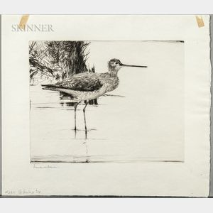 Frank Weston Benson (American, 1862-1951)      Yellowlegs No. 4
