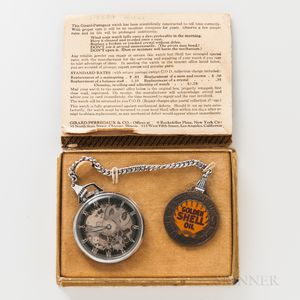 "Girard Perregaux & Co. ""Shell Oil"" Watch and Original Box"