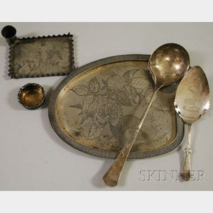 Six Aesthetic Movement Silver Plated Tableware Items