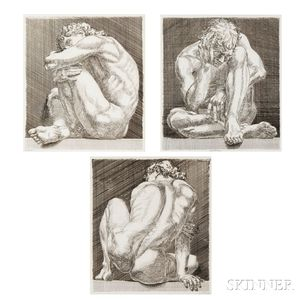 Paul Cadmus (American, 1904-1999)      Suite of Three Works: Nudo 1, 2  , and 3