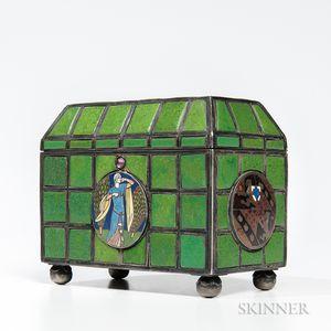 Arthur Joseph Gaskin (1862-1928) Enameled Box