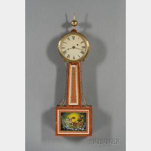 "Mahogany Patent Timepiece or ""Banjo"" Clock"