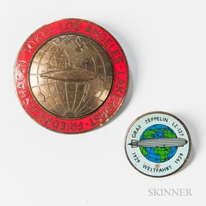 Two Pins Related to Zeppelin Flights