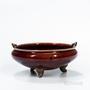 Flambe-glazed Tripod Censer