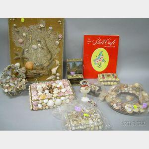 Group of Seashell Art Items