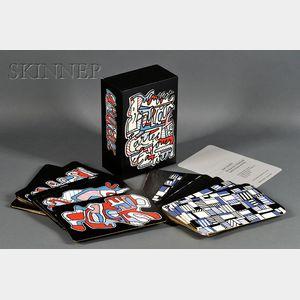 Jean Dubuffet (French, 1901-1985)      Banque de L'Hourloupe cartes à jouer et à tirer