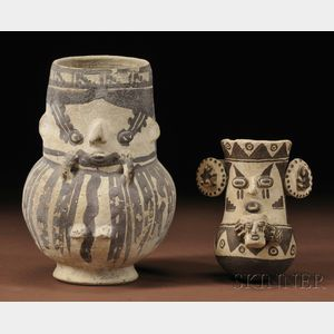 Two Chancay Painted Pottery Vessels