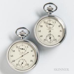 """Two Hamilton """"26"""" Continuous Running Stopwatches"""