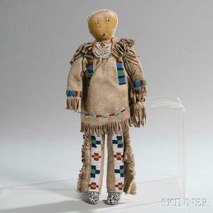 Plains Beaded Hide Male Doll