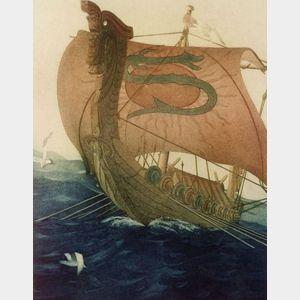 John Taylor Arms (American, 1887-1953)    The Dragon Ship