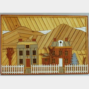 Theodore Degroot Wooden Lath Art Wall Hanging