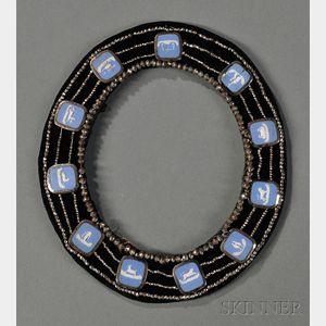 Blue Jasper-mounted Cut-steel Frame