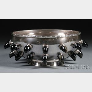 Tane Silver and Obsidian Center Bowl